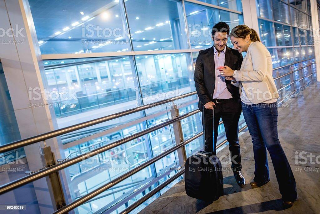 Couple traveling stock photo