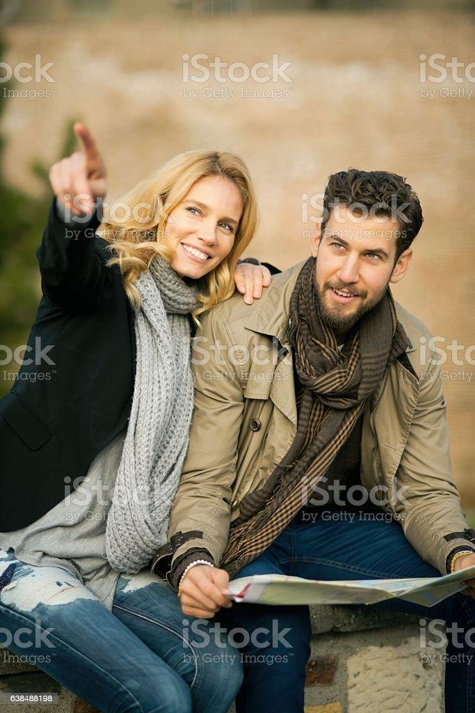 Couple traveling. stock photo