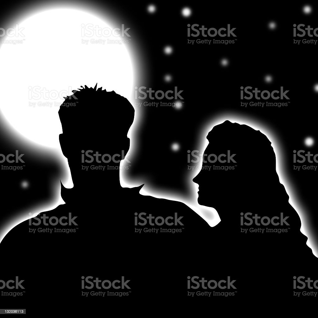 Couple under the stars royalty-free stock photo