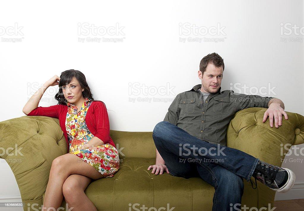 Couple unhappy royalty-free stock photo