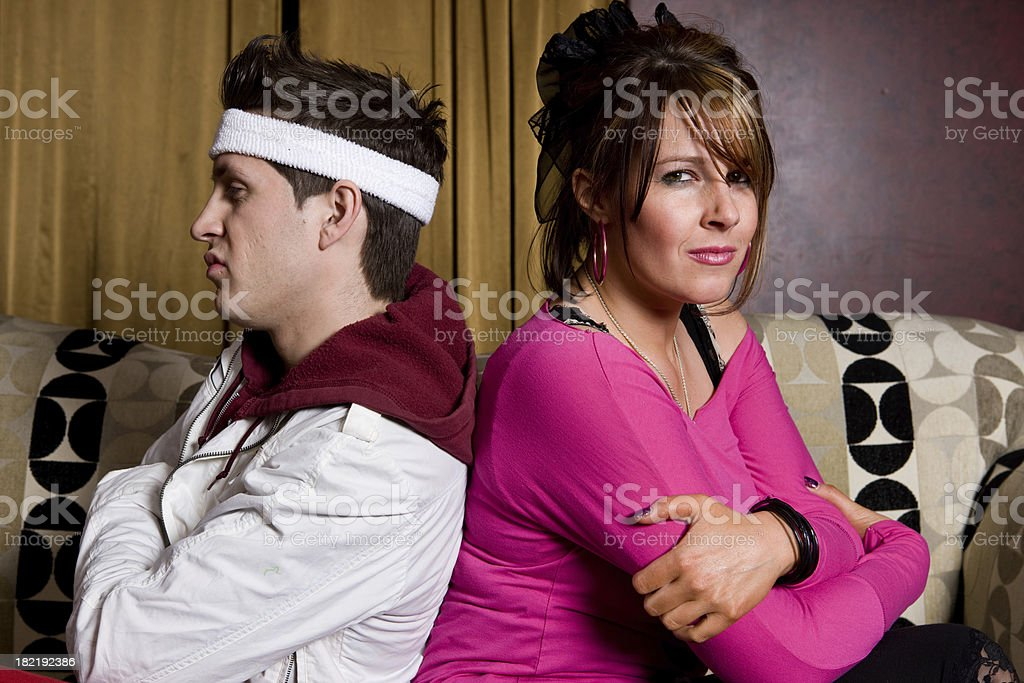 Couple Very Angry With Each Other stock photo