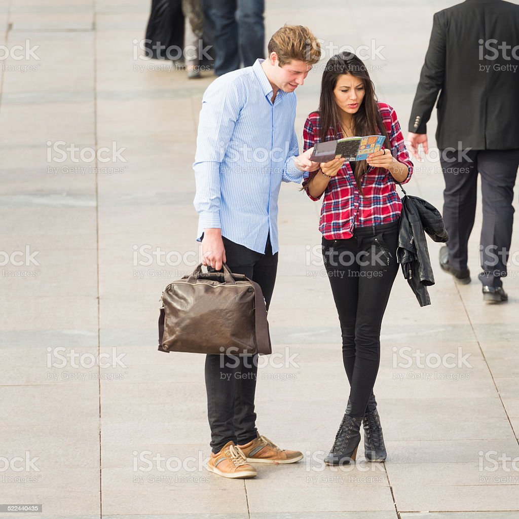 Couple visiting the city stock photo