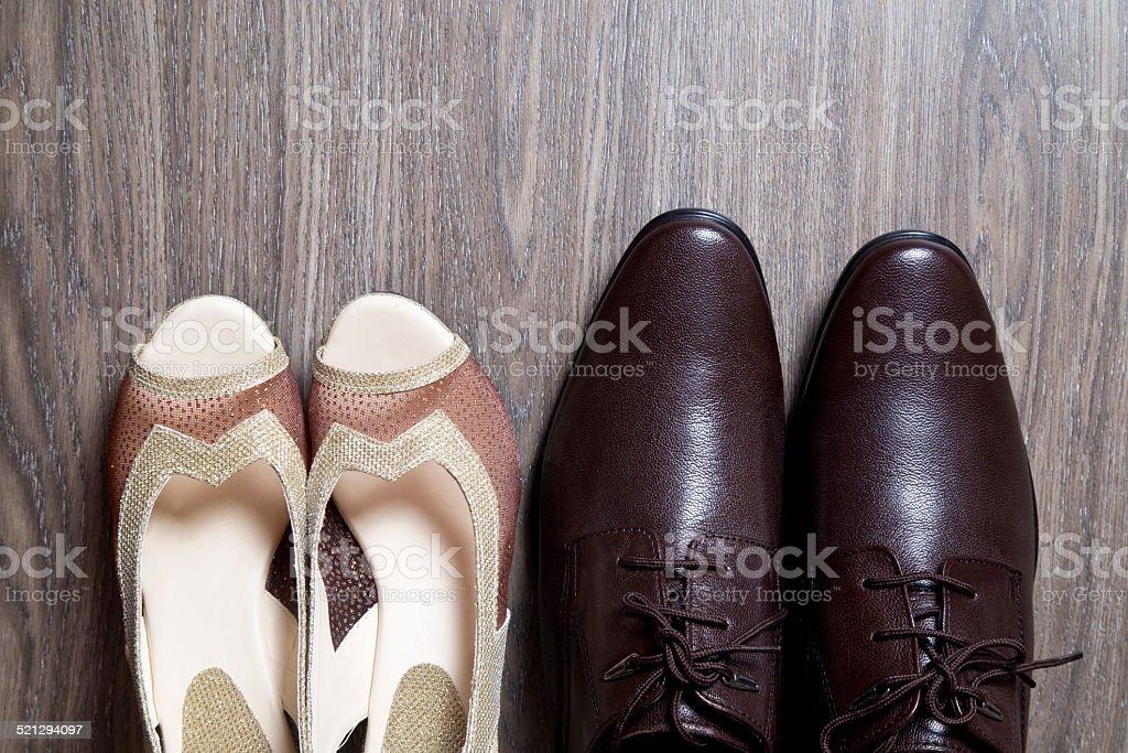 Couple Wedding Shoes stock photo