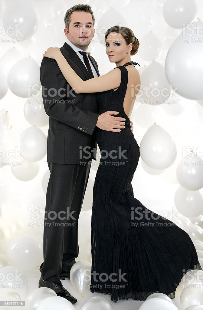 couple well dressed royalty-free stock photo