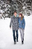 Couple Winter Fashion, Candid Lifestyle