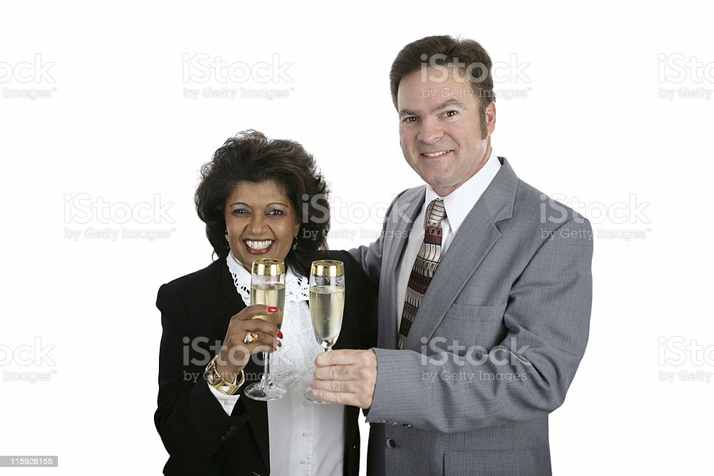 Couple with Champagne royalty-free stock photo