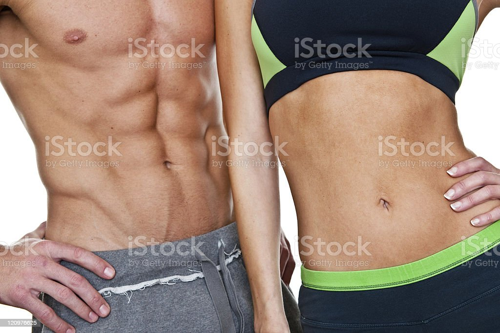 Couple with fit abs royalty-free stock photo