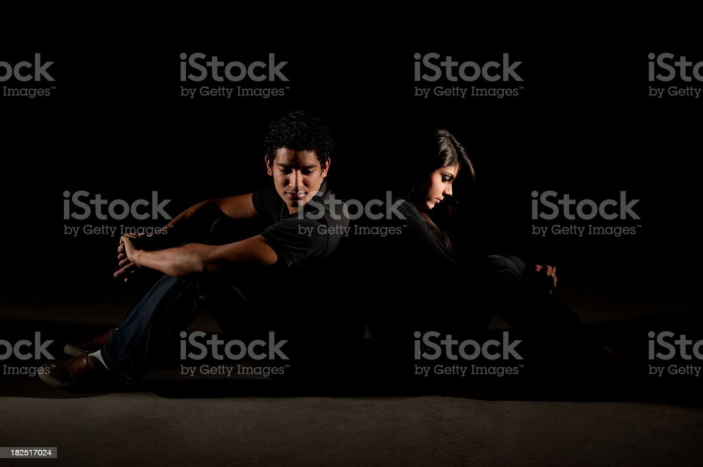 Couple with problems royalty-free stock photo