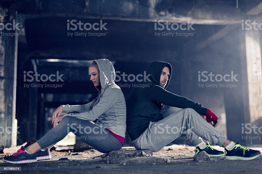 Couple with problems stock photo