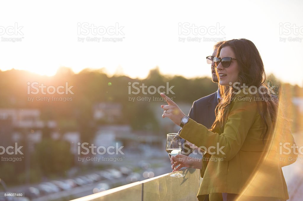 Couple with wine stock photo