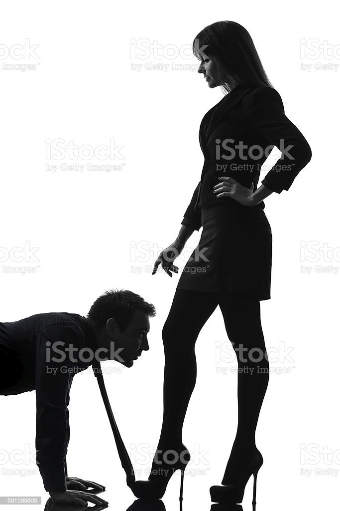 couple woman seductress bonding concept silhouette stock photo