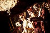 Couples at the masquerade ball