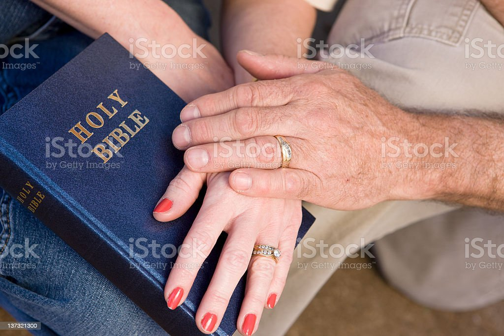 Couples Committment To Their Marriage royalty-free stock photo