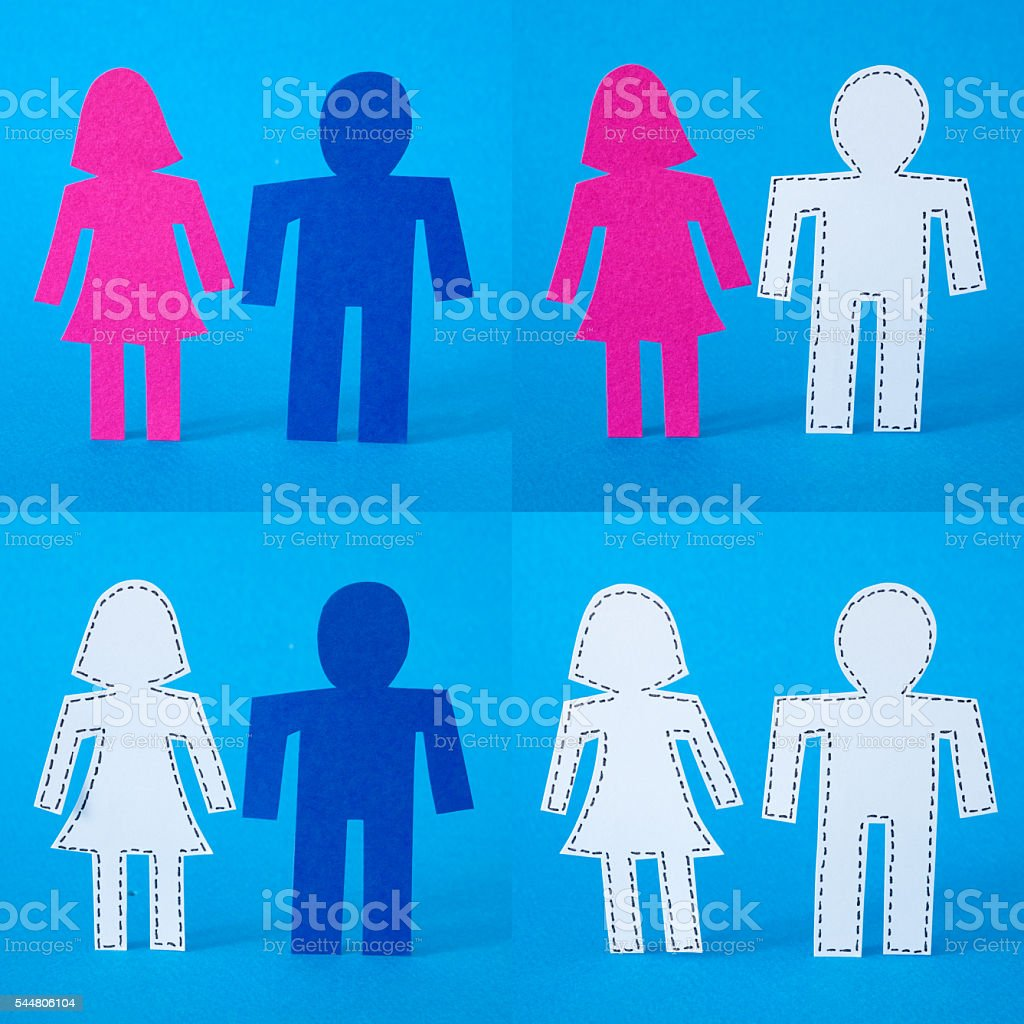 Couples composition stock photo