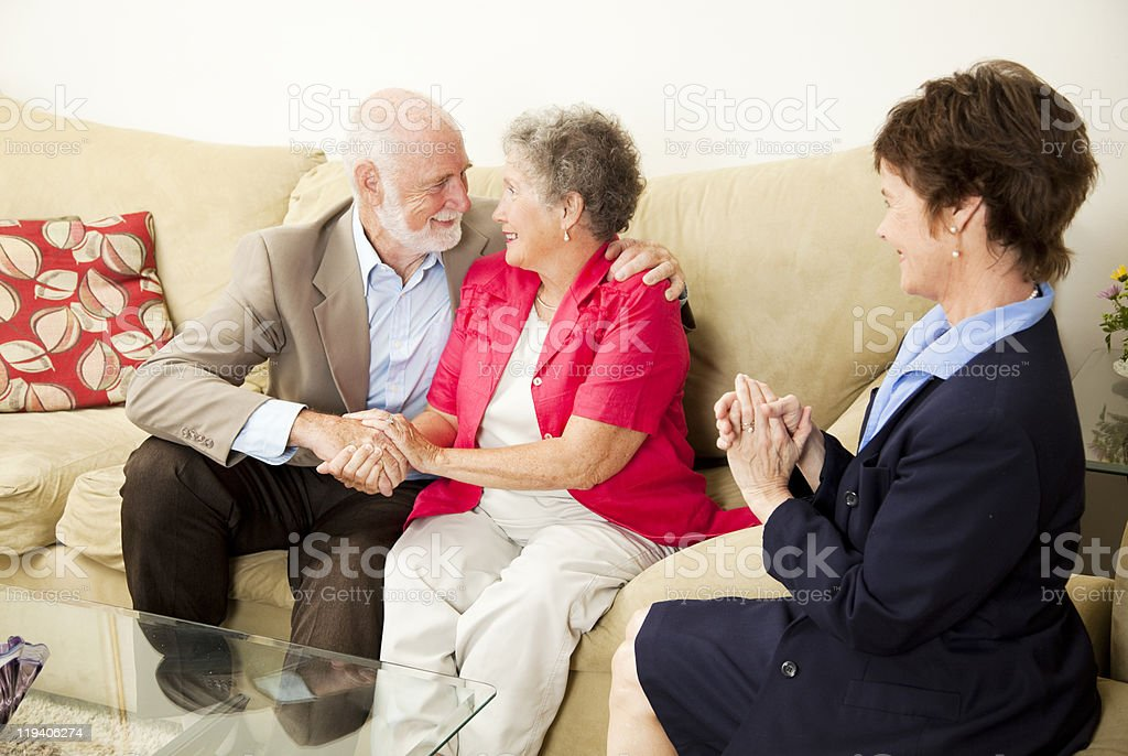 Couples Counseling - Happy Outcome royalty-free stock photo