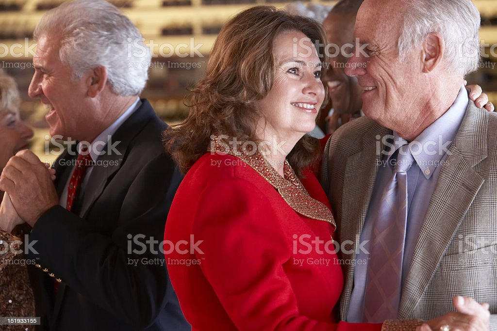 Couples Dancing Together At A Bar royalty-free stock photo