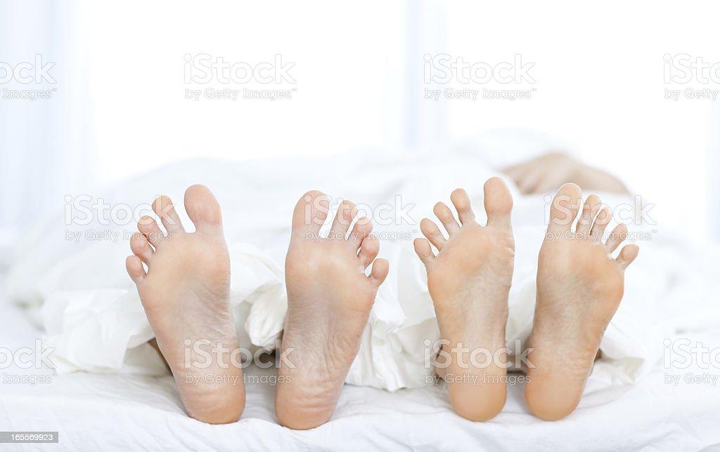 Couple's Feet royalty-free stock photo