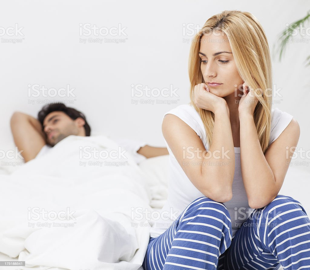 Couple's Problems royalty-free stock photo