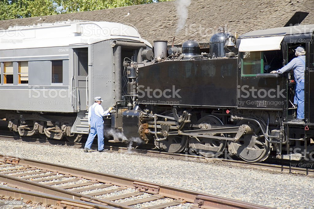 Coupling Train stock photo
