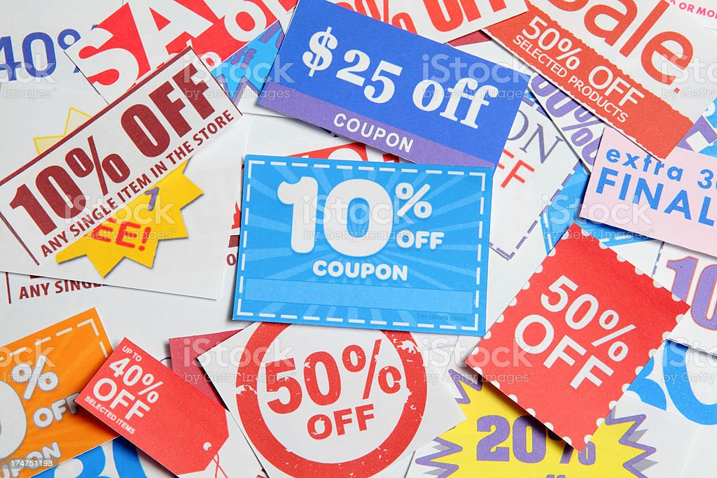 Coupon Background stock photo