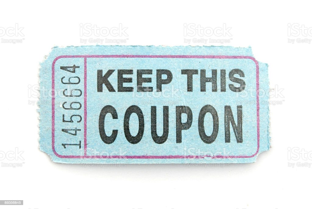 Coupon Ticket stock photo