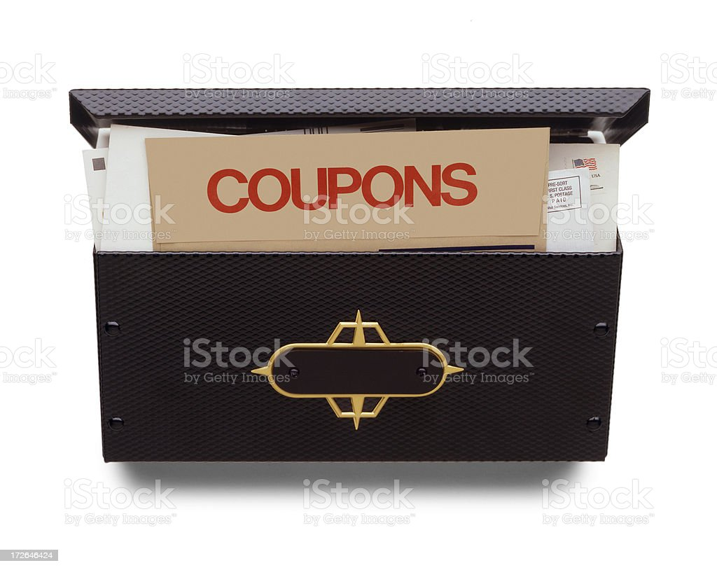 Coupons in the Mail stock photo