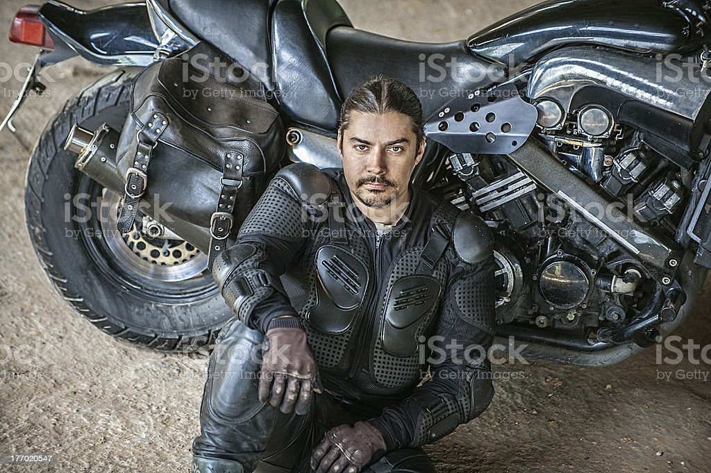 Courageous rider royalty-free stock photo