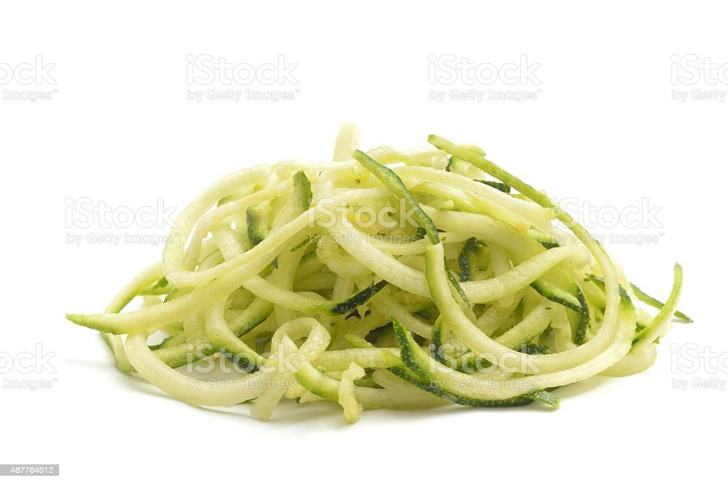 Courgette spaghetti stock photo