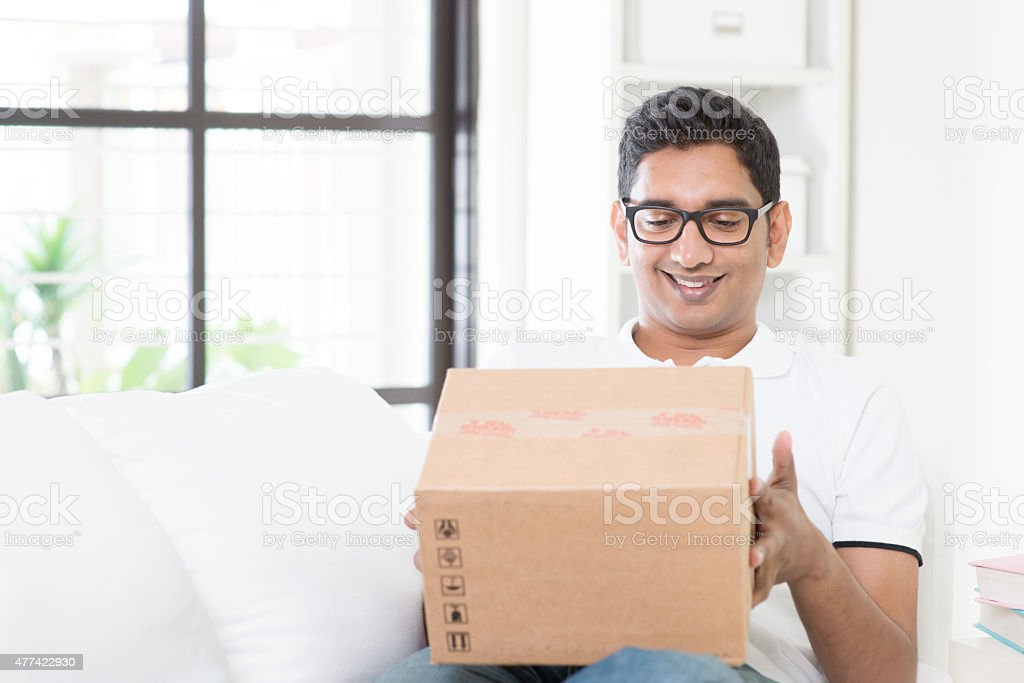 Courier delivery concept. stock photo
