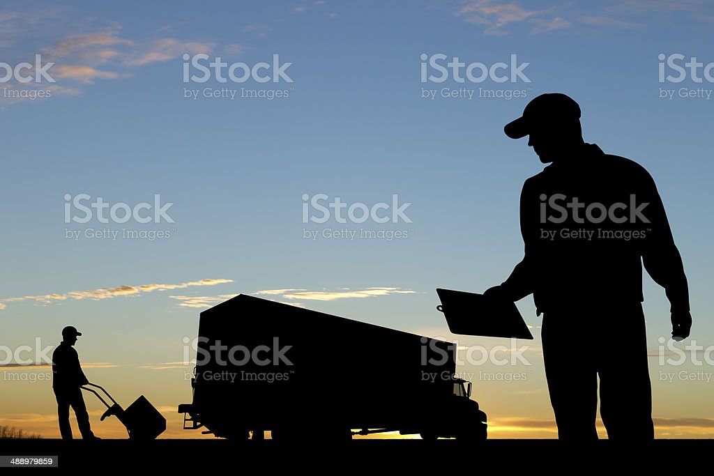Courier Delivery stock photo
