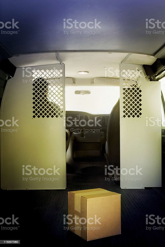 Courier Van royalty-free stock photo
