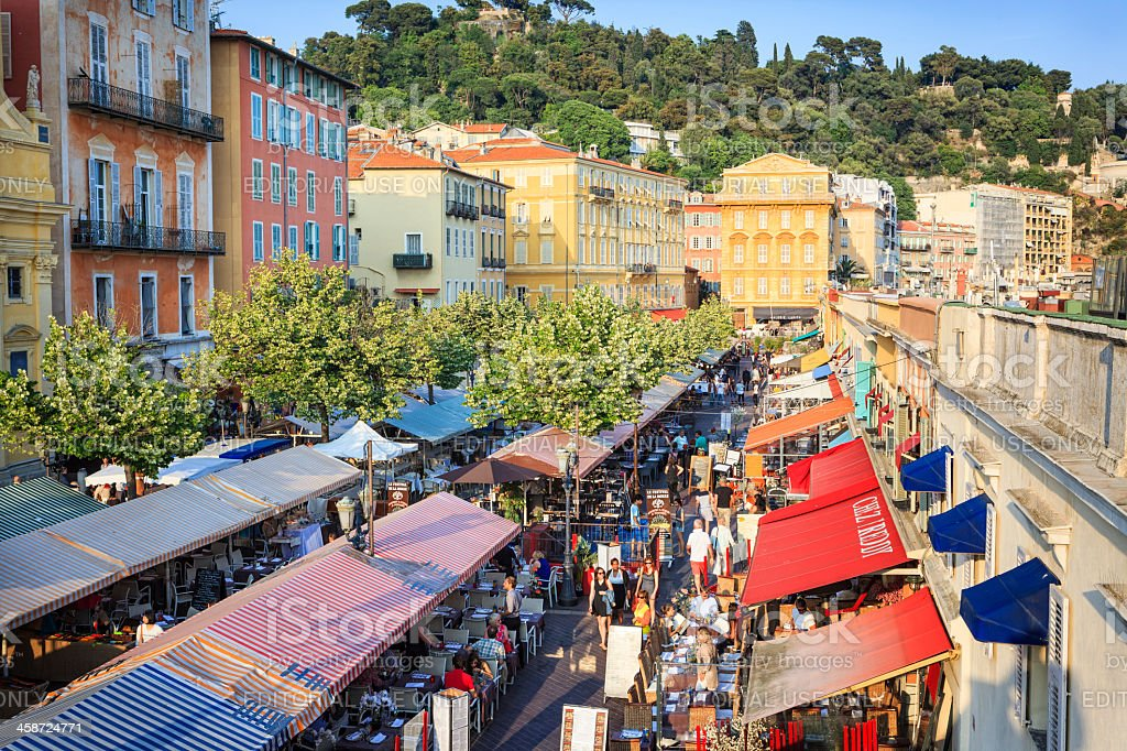 Cours Saleya, Nice, French Riviera royalty-free stock photo