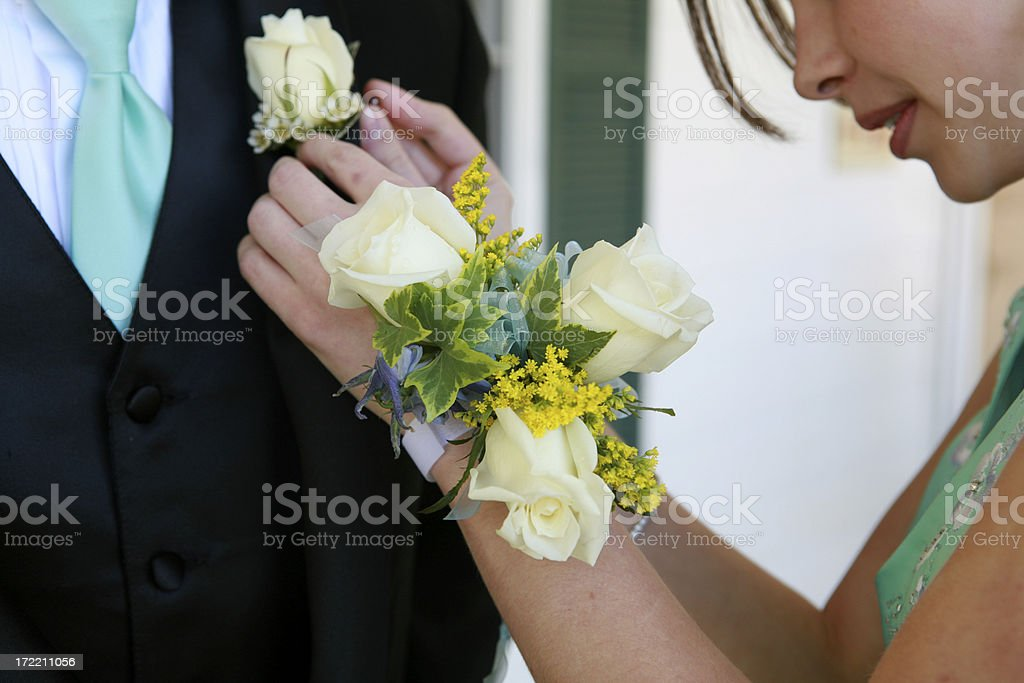 Coursage and Boutonnière stock photo