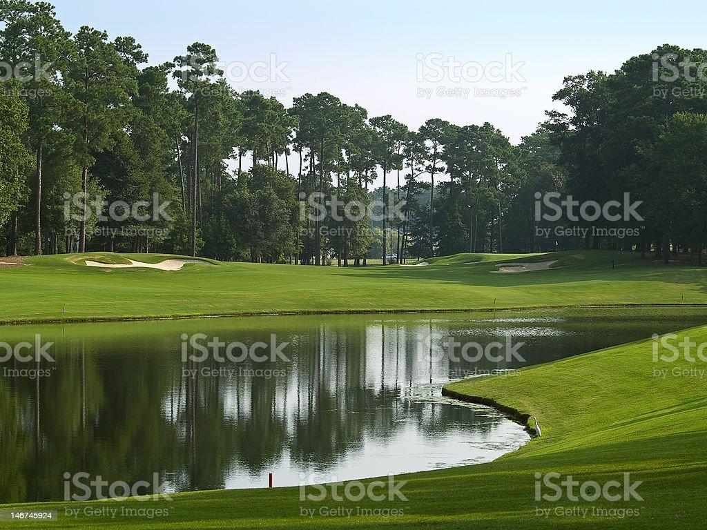 Course Pond stock photo