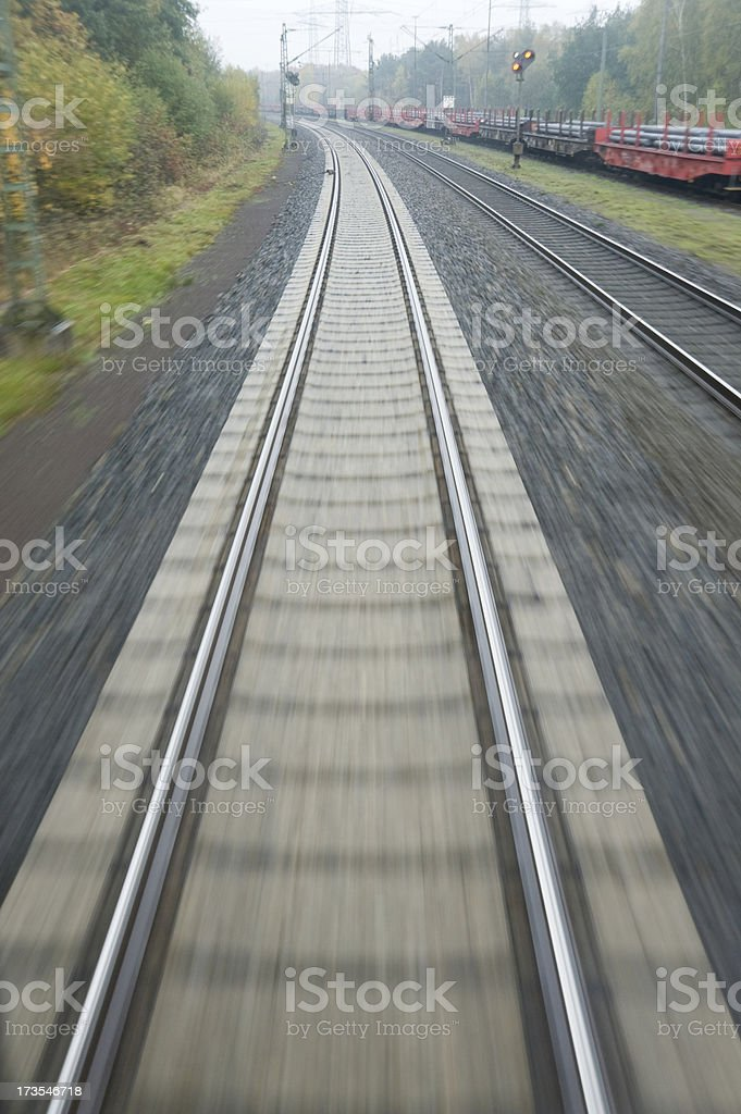 Course rails stock photo