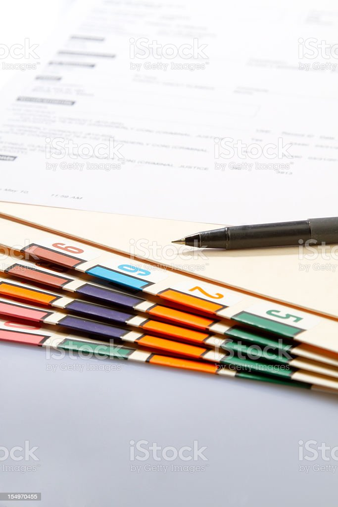 Court Document royalty-free stock photo