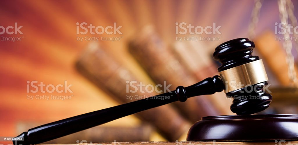 Court gavel,Law theme, mallet of judge stock photo