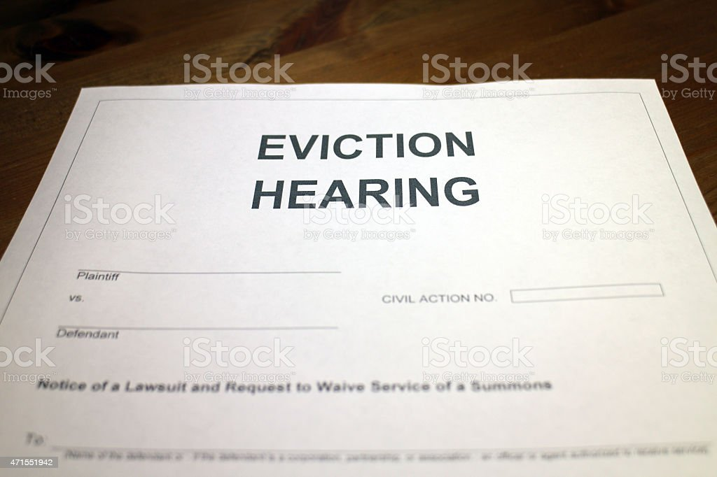 Court Hearing - Eviction stock photo