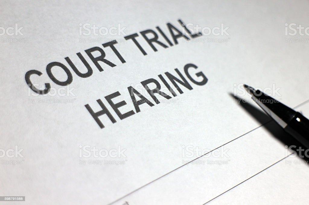 Court Hearing stock photo