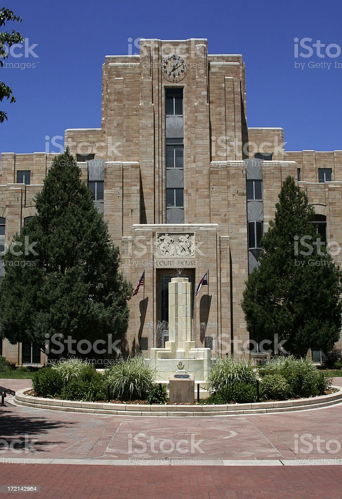 Court House - Boulder Colorado royalty-free stock photo