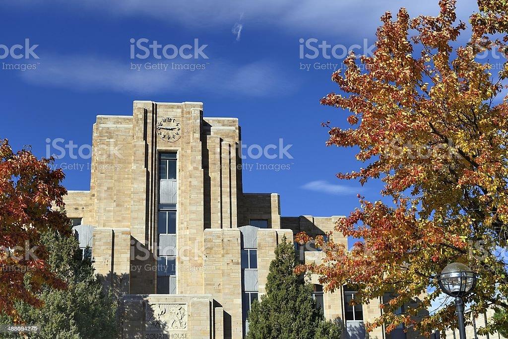 Court House, Boulder, Colorado stock photo