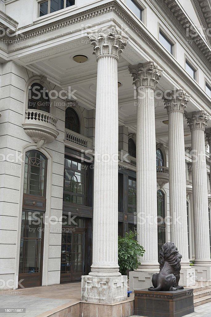 Court House Columns royalty-free stock photo