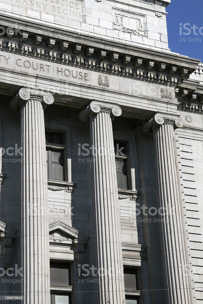 Court House Columns - Youngstown, Ohio stock photo