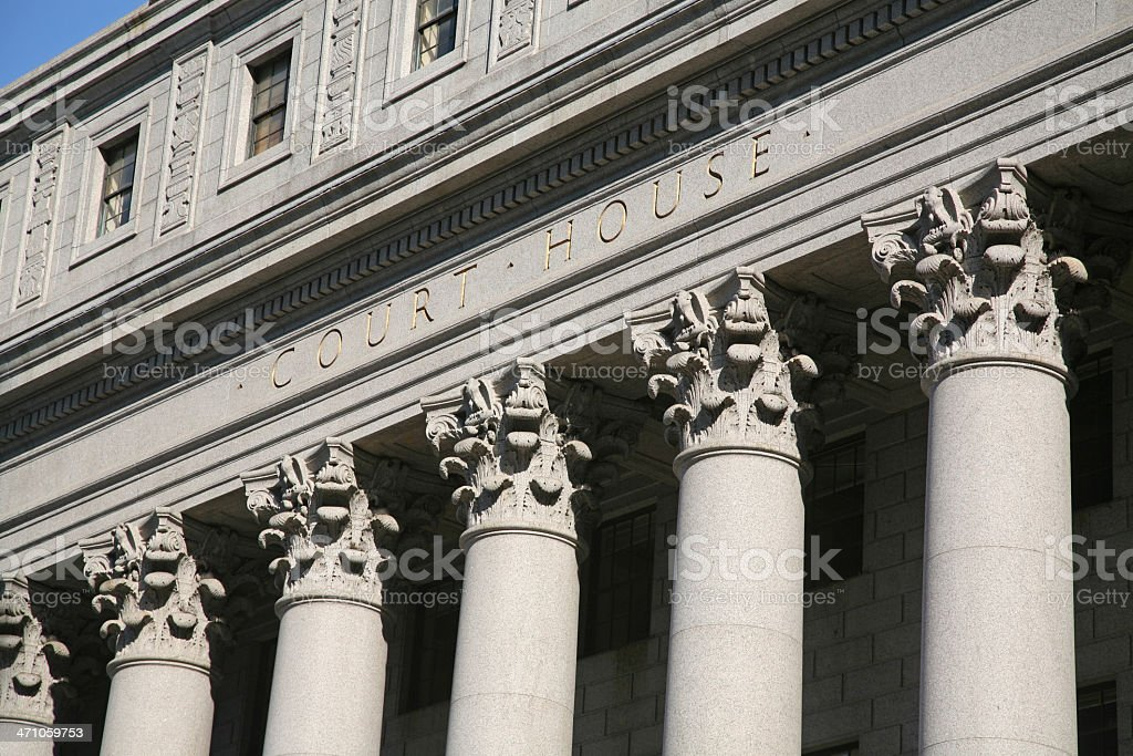 Court House Facade And Colonnade royalty-free stock photo
