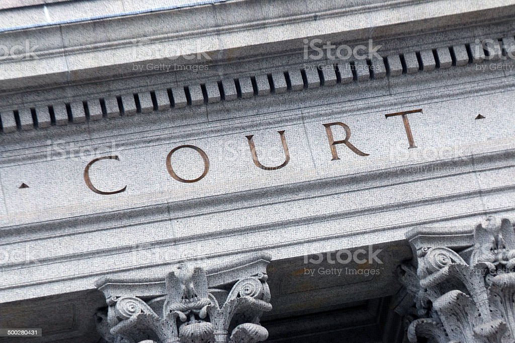 Court house horizontal stock photo