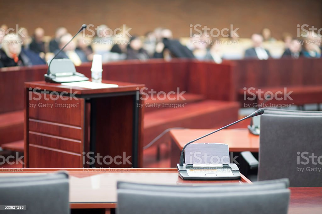 court house interior stock photo