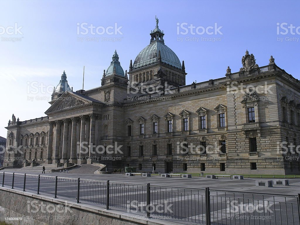 Court in Leipzig royalty-free stock photo