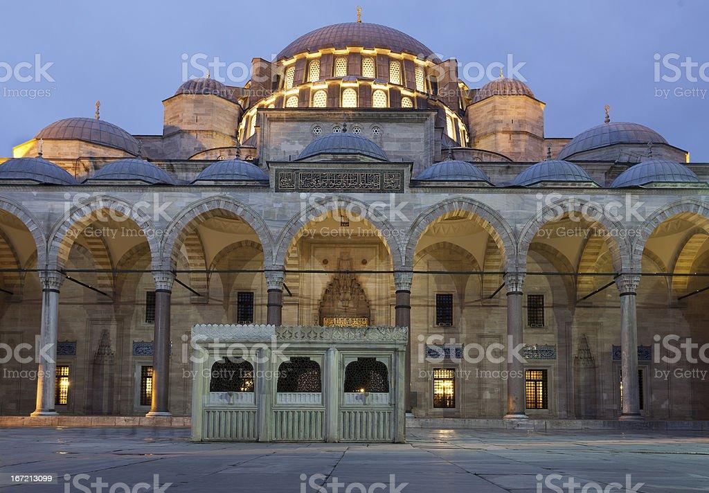 Court of Ablutions (Suleimaniye mosque,Estambul) stock photo