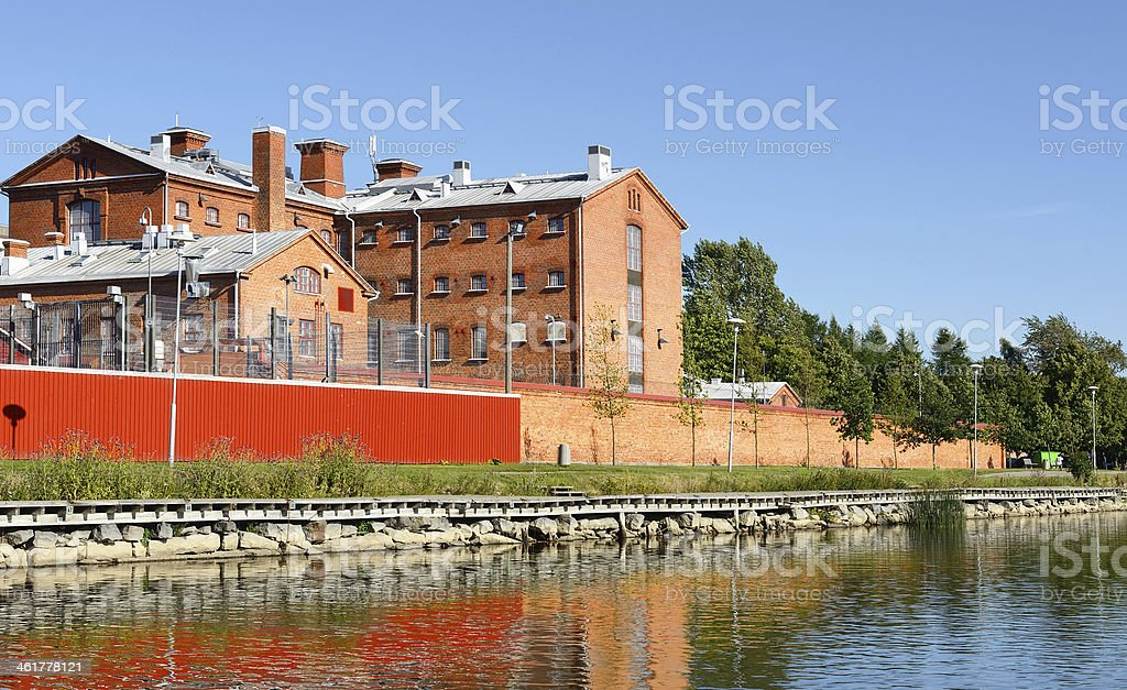 Court of Appeals and Vaasa prison (19th century), Finland stock photo