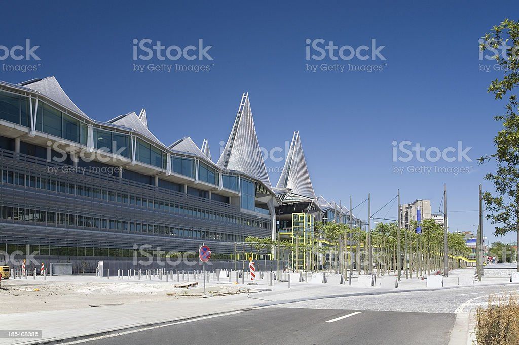 Court of Justice in Antwerp, construction site royalty-free stock photo